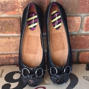 NWOB Black Sperry Top Sider Suede Leather Flats
